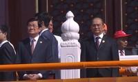 Staatspräsident Truong Tan Sang nimmt an Feier zum Sieg gegen den Nationalsozialismus in Peking teil