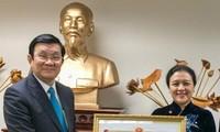 Staatspräsident Truong Tan Sang überreicht Arbeitsorden an die diplomatische Vertretung bei der UNO