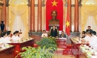 Staatspräsident Truong Tan Sang trifft Vertreter des Caodaismus-Vereins