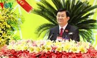 Staatspräsident Truong Tan Sang nimmt an der Sitzung der Parteileitung in Binh Duong teil