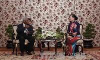Verwalter von Ho Chi Minh Stadt empfangen die Delegation der KP-Indien