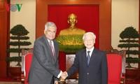 KPV-Generalsekretär Nguyen Phu Trong empfängt den sri-lankischen Premierminister