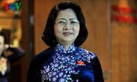 Vize-Staatpräsidentin Dang Thi Ngoc Thinh empfängt die Delegation der Unternehmer