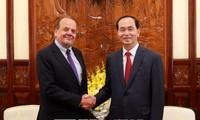 Staatspräsident Tran Dai Quang empfängt den chilenischen Botschafter zum Abschied