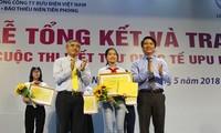 Preis-Verleihung des Briefschreibwettbewerbs von Weltpostverein für Kinder