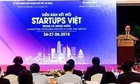 Eröffnung des Forums zur Verbindung von Startup-Unternehmen aus dem In- und Ausland