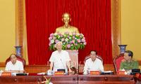 KPV-Generalsekretär Nguyen Phu Trong nimmt an der Konferenz der Parteileitung der Polizei teil