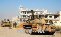 Die syrische Armee verstärkt Angriffe auf IS-Kämpfer