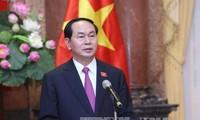 Staatspräsident Tran Dai Quang gratuliert der AIPA-Versammlung