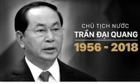 Der Tod des Staatspräsidenten Tran Dai Quang steht in den Schlagzeilen der internationalen Medien