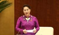 Parlamentspräsidentin Nguyen Thi Kim Ngan empfängt die stellvertretende Vorsitzende der russischen Staatsduma
