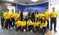 Die argentinische Botschaft trifft die vietnamesische Mannschaft für olympische Jugend-Sommerspiele