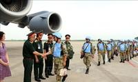 Die 2. Gruppe der vietnamesischen Blauhelme beginnen den Einsatz für UN-Friedensmission