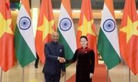 Die Parlamentspräsidentin empfängt den indischen Präsident