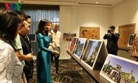 Die vietnamesische Ausstellung der Lackbilder und Kunstfotos in Australien