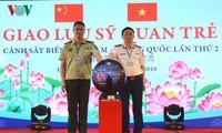 Begegnung der Seepolizisten zwischen Vietnam und China