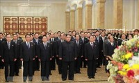Der nordkoreanische Staatschef Kim Jong-un besucht den Kumsusan-Palast der Sonne