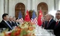 US-Präsident Donald Trump hält die Handelsverhandlung zwischen den USA und China für konstruktiv