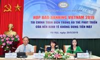 Ausstellung neuer Errungenschaften bei Dienstleistungen der Banken