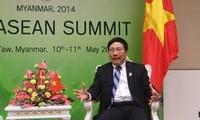 Phó Thủ tướng Phạm Bình Minh trả lời phỏng vấn về kết quả Hội nghị Cấp cao ASEAN-24