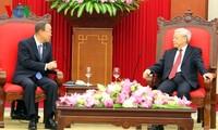 Tổng Bí thư Nguyễn Phú Trọng tiếp Tổng Thư ký Liên Hợp Quốc Ban Ki-moon