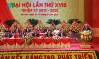 Lãnh đạo Đảng dự và chỉ đạo Đại hội đảng bộ tỉnh Hà Tĩnh