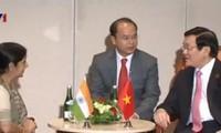 Президент СРВ Чыонг Тан Шанг принял министра иностранных дел Индии