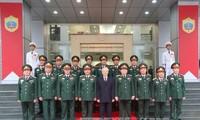 Генсек ЦК КПВ Нгуен Фу Чонг посетил Второе главное управление Минобороны СРВ