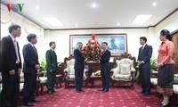 Поздравительные телеграммы по случаю 55-летия со дня установления дипотношений между СРВ и Лаосом