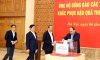 Канцелярия правительства СРВ сделала пожерствования в помощь пострадавшим от тайфуна Дамри