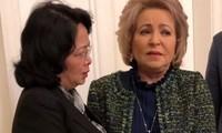 Вице-президент СРВ Данг Тхи Нгок Тхинь встретилась с главой Совета Федерации РФ Валентиной Матвиенко