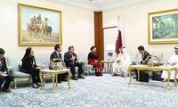 Нгуен Тхи Ким Нган встретилась с председателем Консультативного собрания Катара