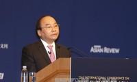PM Vietnam Nguyen Xuan Phuc menyampaikan pidato pada upacara pembukaan Konferensi ke-23 Masa Depan Asia