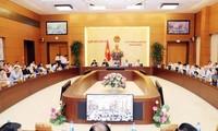 Meninjau isi- isi dalam Persidangan ke-25 Komite Tetap MN Vietnam