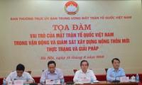 "Sarasehan ""Peranan Front Tanah Air Vietnam dalam menggerakkan dan mengawasi pembangunan pedesaan baru"