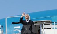 Sekjen KS PKV Nguyen Phu Trong mulai melakukan kunjungan resmi di Federasi Rusia