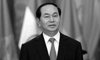 Pimpinan negara-negara mengirim tilgram belasungkawa tentang wafatnya Presiden Tran Dai Quang