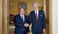 PM  Vietnam, Nguyen Xuan Phuc melakukan kunjungan kehormatan dengan Raja Belgia
