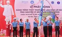 Upacara pencanangan Perjalanan Dokter muda bertindak sesuai dengan ajaran Presiden Ho Chi Minh tahun 2019