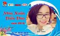 Memperkenalkan beberapa lagu ciptaan komponis muda Mai Tram tentang kepulauan Truong Sa yang tercinta dari Vietnam