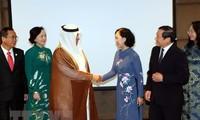 Kepala Departemen Penggerakan Massa Rakyat KS PKV, Truong Thi Mai melakukan kunjungan kerja di Qatar