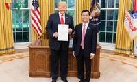 Presiden AS, Donald Trump menilai tinggi langkah perkembangan hubungan Kemitraan Komprehensif  Vietnam- AS