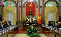Presiden Vietnam, Tran Dai Quang menerima para kepala delegasi yang menghadiri Kongres Badan Pemeriksa Keuangan Asia
