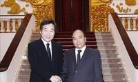 PM Nguyen Xuan Phuc dan Penjabat Presiden Vietnam, Dang Thi Ngoc Thinh menerima PM Republik Korea, Lee Nak-Yeon