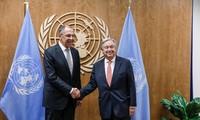 MU PBB angkatan ke-73: Sekjen PBB dan Menlu Rusia berbahas tentang bentrokan di Suriah dan Ukraina Timur
