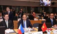 PM Vietnam, Nguyen Xuan Phuc menghadri KTT ke-12 Asia-Eropa (ASEM 12) dan melakukan pertemuan bilateral di sela-sela Konferensi ASEM 12