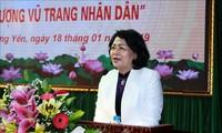 Wakil Presiden Vietnam menghadiri upacara pemberian gelar kehormatan negara di Provinsi Hung Yen