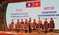 Pembukaan festival temu pergaulan kebudayaan, olahraga dan pariwisata warga etnis minoritas di semua provinsi daerah perbatasan Vietnam-Laos