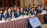PM Vietnam, Nguyen Xuan Phuc dan PM Italia, Giuseppe Conte bersama-sama memimpin Forum Badan Usaha Italia – ASEAN