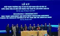 Upacara penandatangan resmi EVFTA antara Vietnam dan Uni Eropa